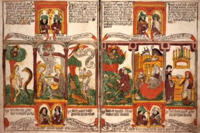 Biblia Pauperum. Blockbook. Netherlands C.1460-1470.